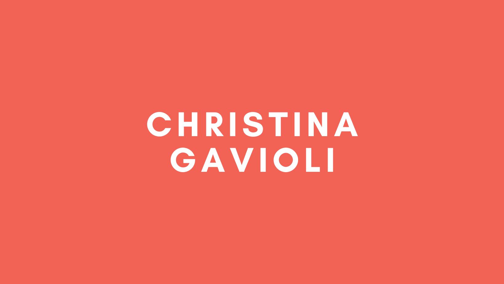 Christina Gavioli